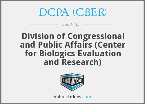 What does DCPA (CBER) stand for?