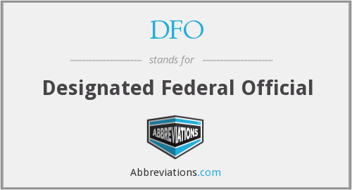 DFO - designated federal official