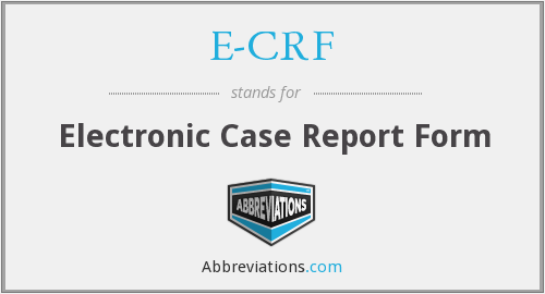 What does E-CRF stand for?