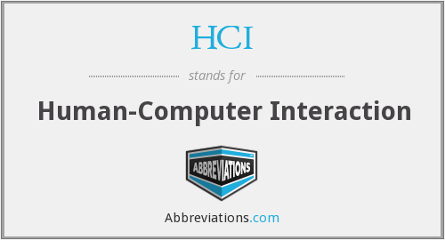 HCI - human-computer interaction