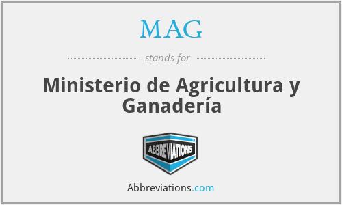 MAG - Ministerio de Agricultura y Ganadería