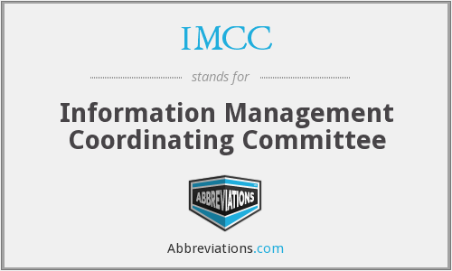 IMCC - Information Management Coordinating Committee