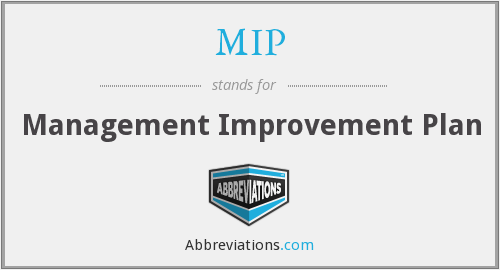 MIP - Management Improvement Plan