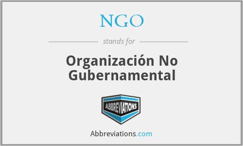 NGO - Organización No Gubernamental