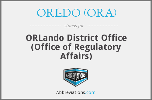 What does ORL-DO (ORA) stand for?