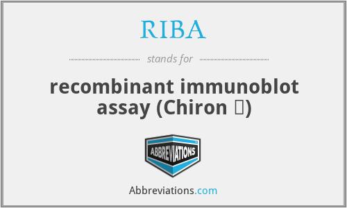 RIBAル - recombinant immunoblot assay (Chiron ᆴ)