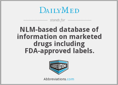 DailyMed - NLM-based database of information on marketed drugs including FDA-approved labels.