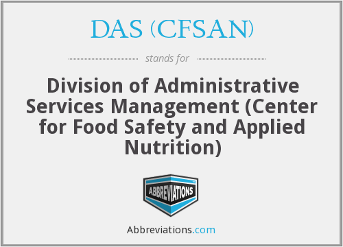 DAS (CFSAN) - Division of Administrative Services Management (Center for Food Safety and Applied Nutrition)