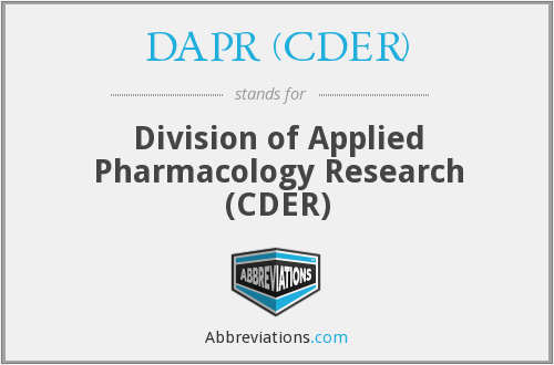 What does DAPR (CDER) stand for?