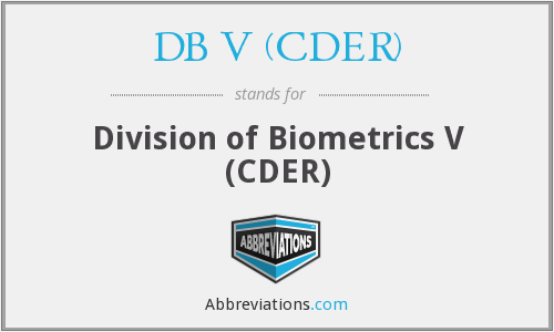 What does DB V (CDER) stand for?