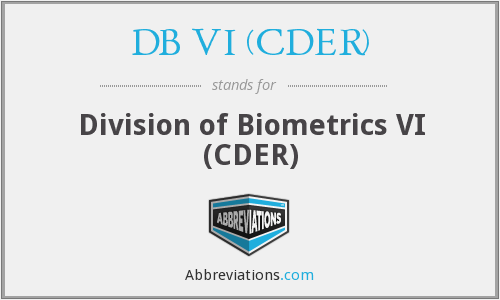 What does DB VI (CDER) stand for?