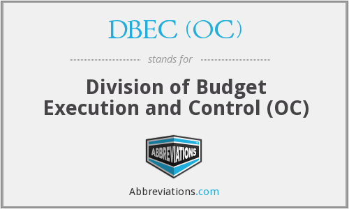 What does DBEC (OC) stand for?