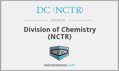 What does DC (NCTR) stand for?