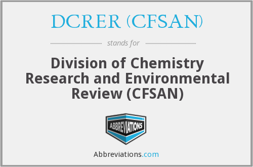 What does DCRER (CFSAN) stand for?