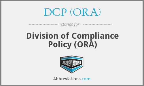DCP (ORA) - Division of Compliance Policy (ORA)