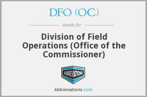 What does DFO (OC) stand for?