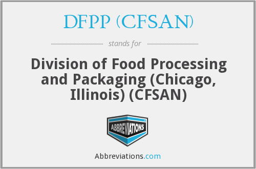 What does DFPP (CFSAN) stand for?
