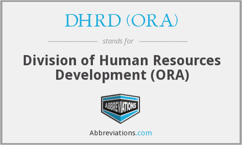 DHRD (ORA) - Division of Human Resources Development (ORA)