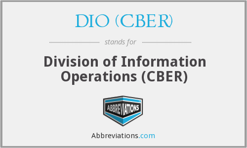 What does DIO (CBER) stand for?