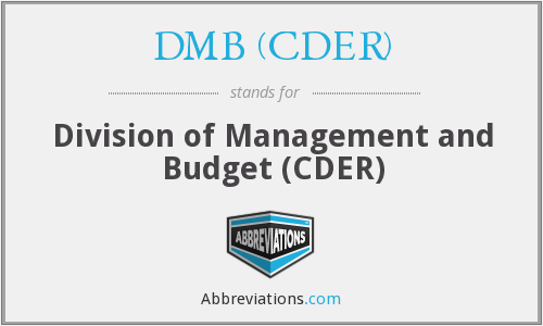 What does DMB (CDER) stand for?