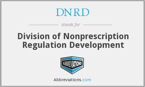 DNRD - Division of Nonprescription Regulation Development