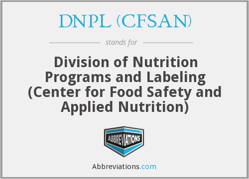 What does DNPL (CFSAN) stand for?