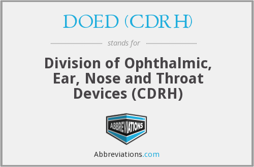 What does DOED (CDRH) stand for?