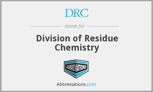DRC - Division of Residue Chemistry