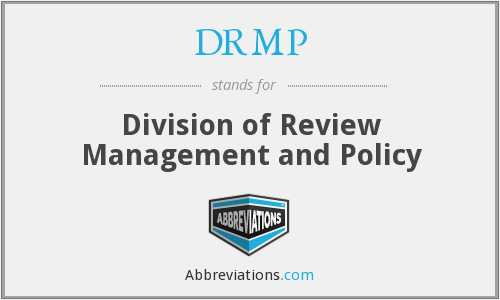 What does DRMP (CDER) stand for?