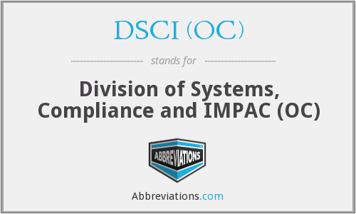 What does DSCI (OC) stand for?