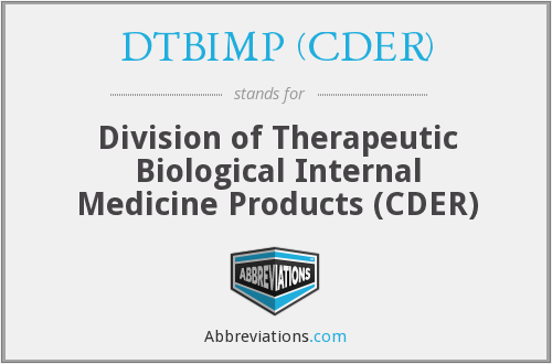 What does DTBIMP (CDER) stand for?