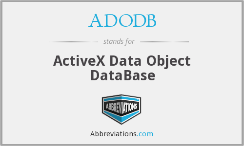 ADODB - ActiveX Data Object DataBase