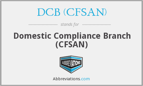 What does DCB (CFSAN) stand for?