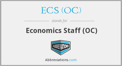 What does ECS (OC) stand for?