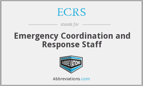 ECRS (CFSAN) - Emergency Coordination and Response Staff (CFSAN)