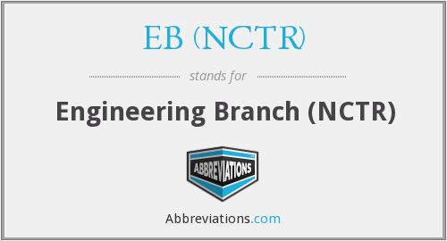 What does EB (NCTR) stand for?