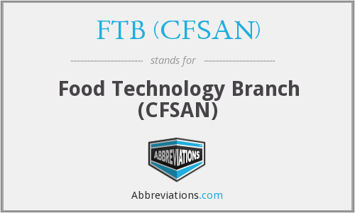What does FTB (CFSAN) stand for?