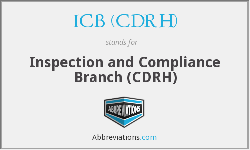 What does ICB (CDRH) stand for?