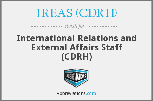 What does IREAS (CDRH) stand for?