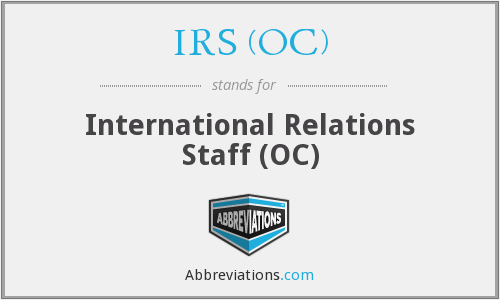 IRS (OC) - International Relations Staff (OC)