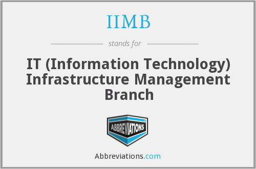 IIMB (CDRH) - IT Infrastructure Management Branch (CDRH)