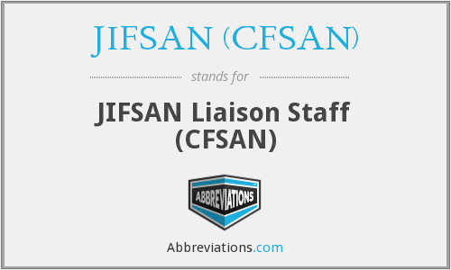 What does JIFSAN (CFSAN) stand for?