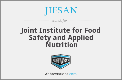 JIFSAN - Joint Institute for Food Safety and Applied Nutrition
