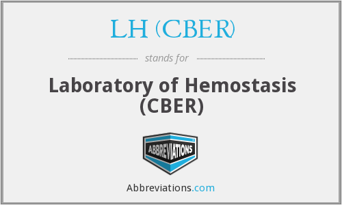 What does LH (CBER) stand for?