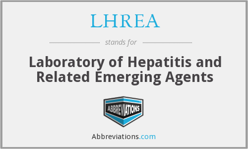 LHREA - Laboratory of Hepatitis and Related Emerging Agents