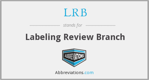 LRB - Labeling Review Branch