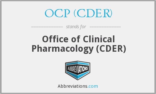 OCP (CDER) - Office of Clinical Pharmacology (CDER)