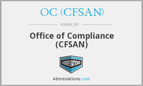 What does OC (CFSAN) stand for?