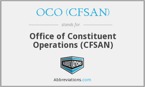 What does OCO (CFSAN) stand for?