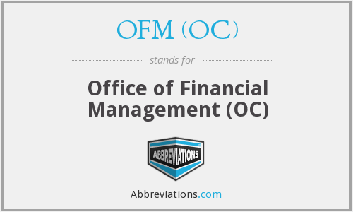 What does OFM (OC) stand for?